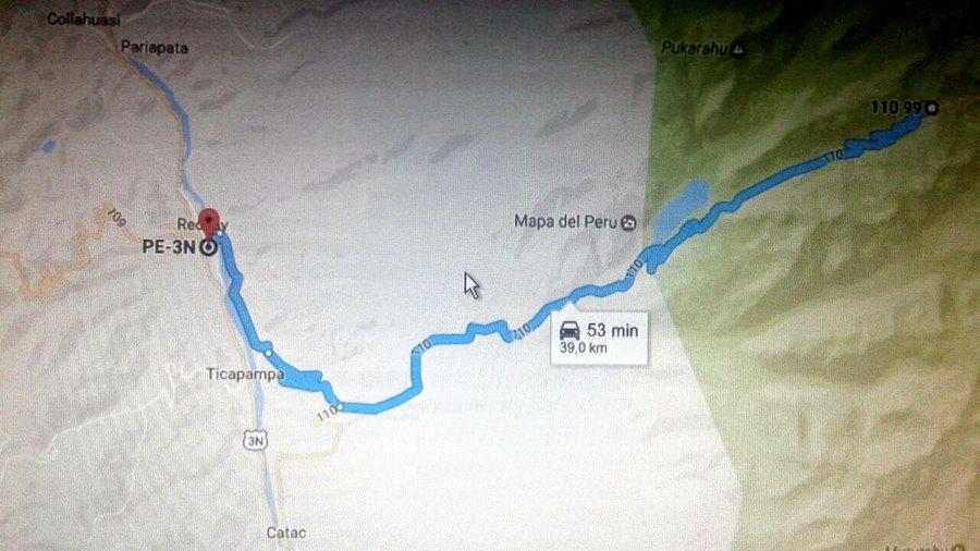 Ruta de ciclismo Huaraz-Ancash