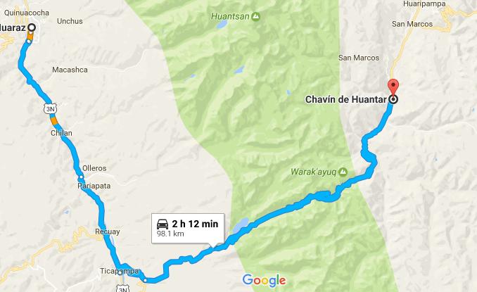 Ruta Chavín de Huantar