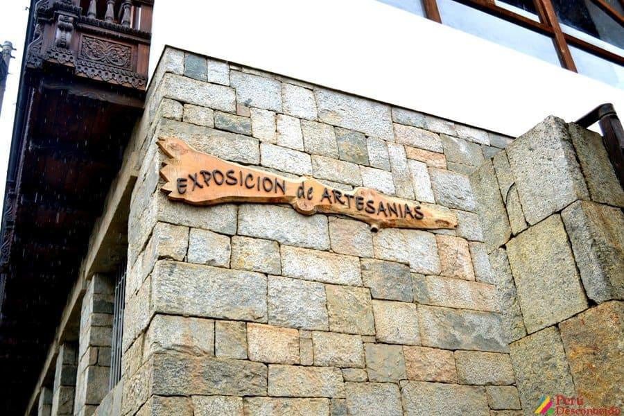 Exposición de artesanías en Chacas