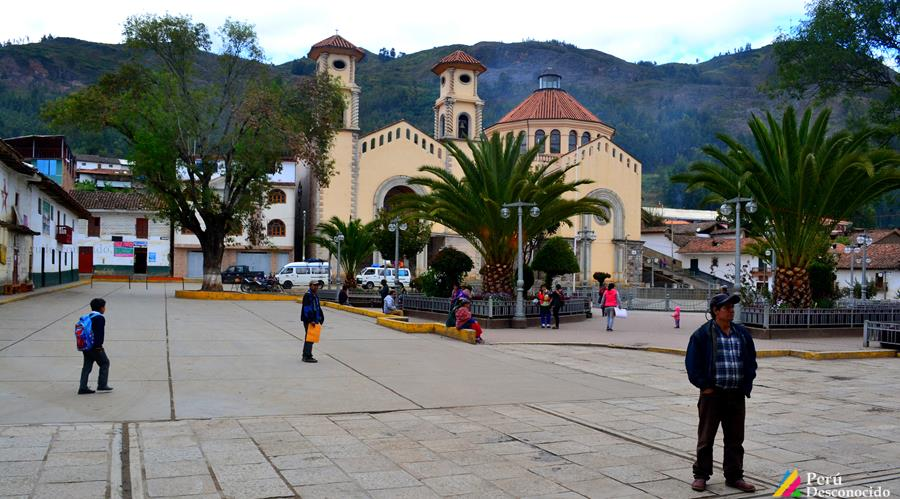 La Plaza de Armas del distrito de San Luis