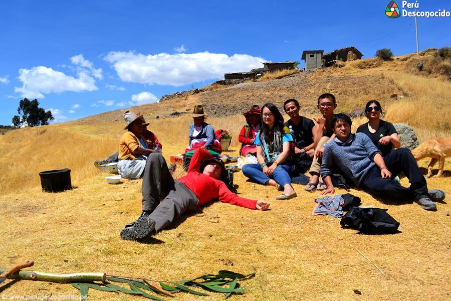 Turistas en Wilcacocha