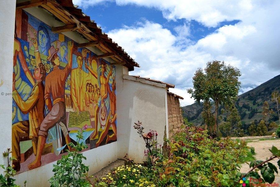Cementerio de Huancall en Aija.