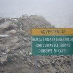 Advertencia Ruta Carhuaz-Chacas