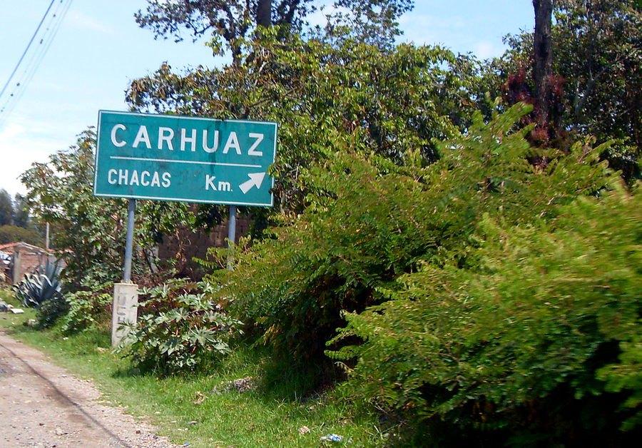 Ruta Carhuaz-Chacas.