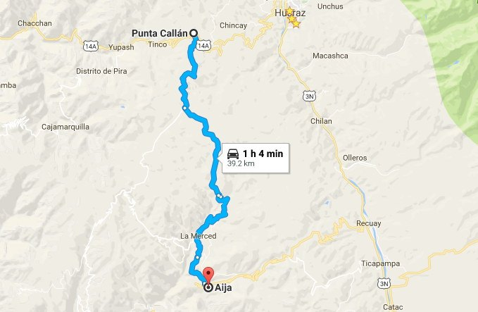 Ruta Callán Punta-Aija