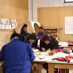 Mujeres artesanas de los talleres Don Bosco en Chacas Ancash