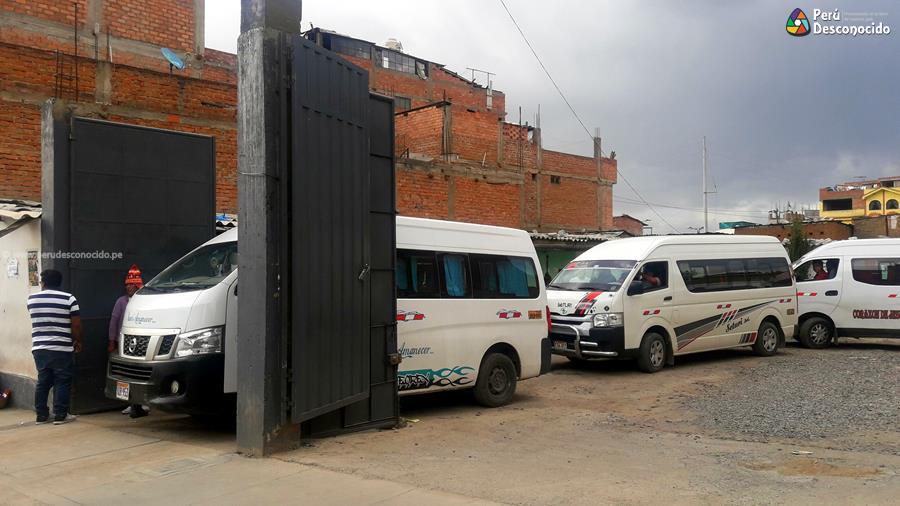 Paradero de combis Huaraz-Caraz