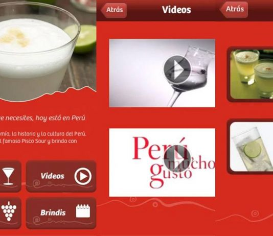Pisco Perú app, aplicación para preparar pisco